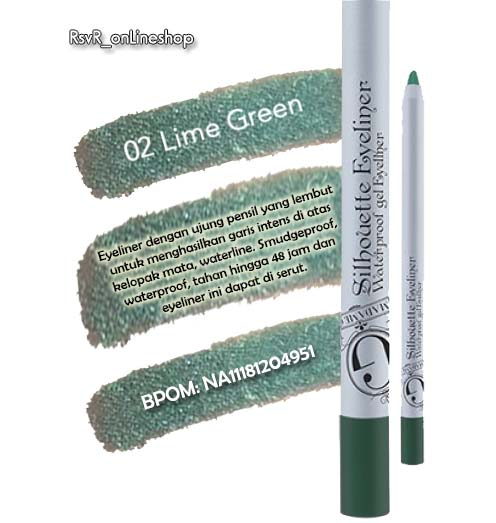 02 Lime Green Eyeliner Madame Gie – Madame Gie Manado